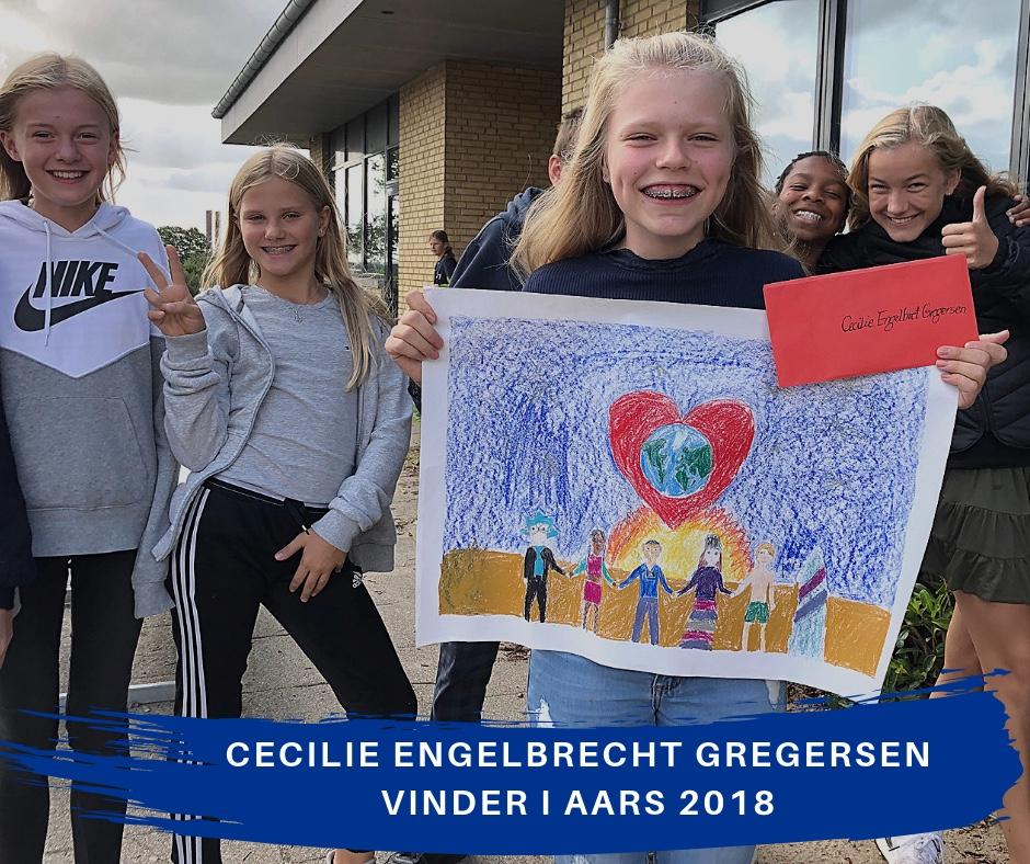 Cecilie Engelbrecht Gregersen vinder af fredsplakatkonkurrencen i Aars 2018